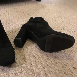 Franco Sarto Shoes - Franco Sarto black Suede Booties 8.5